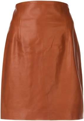 Rosetta Getty fitted mini biker skirt