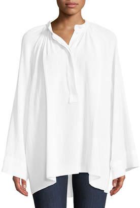 Michael Kors Full-Sleeve Cotton Poet Blouse
