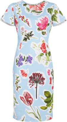 Carolina Herrera Flower Print Sheath Dress
