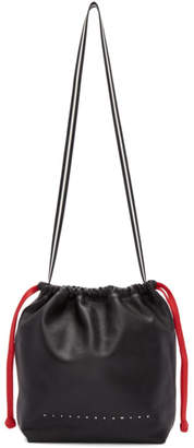 Alexander Wang Black Small Wefty Drawstring Tote