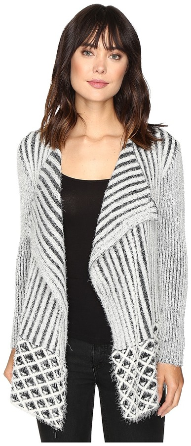 Brigitte Bailey Magnolia Ribbed Fuzzy Sweater