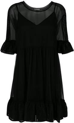 Twin-Set layered flared dress