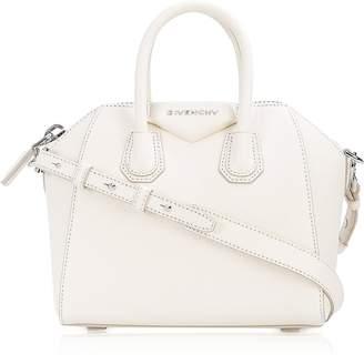 Givenchy Antigona Mini Off White Leather Satchel Bag