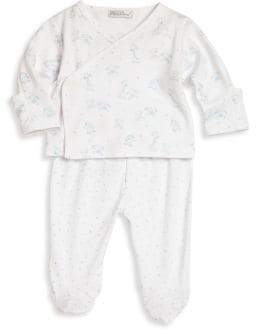 Kissy Kissy Baby's Two-Piece Toy-Print Crossover Tee& Footed Pants Set