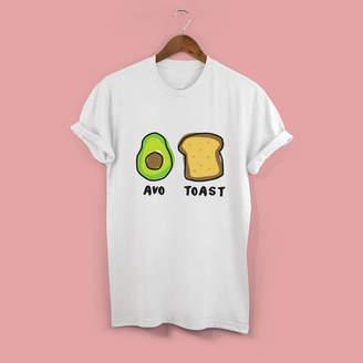 Squiffy Print Avocado On Toast Unisex Tshirt