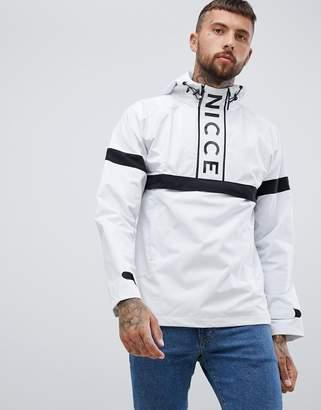 Nicce London logo overhead windbreaker jacket