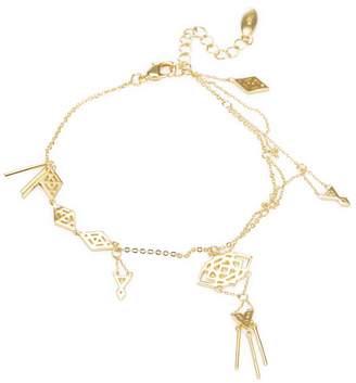 Noir Women's Geometric Cut-Out Charm Bracelet