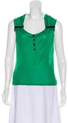Ungaro Silk Sleeveless Top green Silk Sleeveless Top