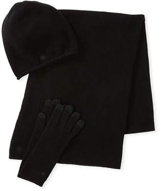 UGG Luxe Wool-Blend Smart Gloves, Beanie & Scarf Set