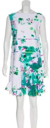 Chiara Boni Printed Mini Dress White Printed Mini Dress