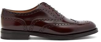 Church's Burwood Leather Brogues - Womens - Burgundy