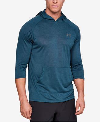 Under Armour Men Ua Tech PowerSleeve Hooded Training T-Shirt