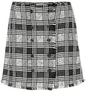 Thom Browne Checked wool-blend miniskirt