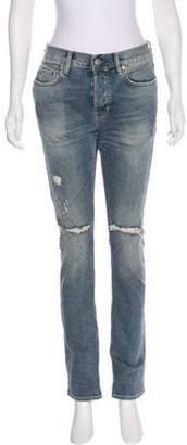 AllSaints Mid-Rise Distressed Jeans