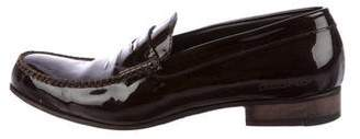 DSQUARED2 Patent Leather Round-Toe Loafers