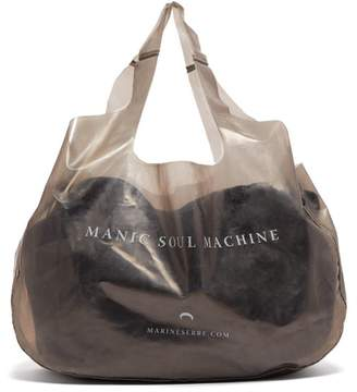 Marine Serre Printed Pvc Tote Bag - Womens - Grey