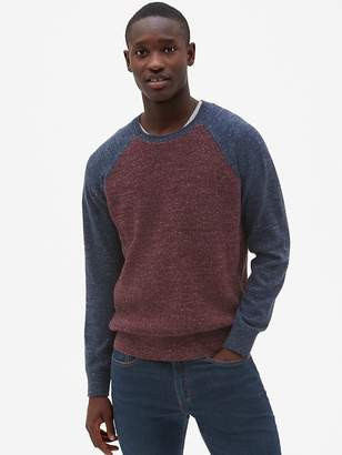 Gap Textured Colorblock Crewneck Pullover Sweater