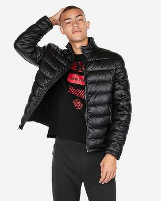 Express Minus The) Leather Puffer Jacket