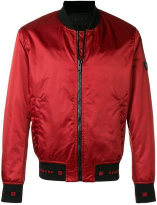 Givenchy zipped bomber jacket