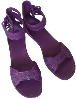 Givenchy Purple Rubber Sandals