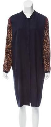 Megan Park Silk Midi Dress