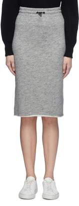 Rag & Bone Drawcord waist raw hem sweat skirt