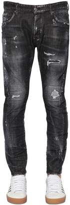 DSQUARED2 17cm Icon Tidy Biker Cotton Denim Jeans
