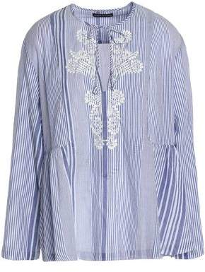 Antik Batik Woman Haily Ruffle-trimmed Checked Cotton-voile Tunic Light Blue Size 42 Antik Batik Discount Cheapest Price pZUkz6