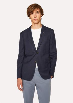 Paul Smith Men's Slim-Fit Slate Blue Textured Wool Blazer