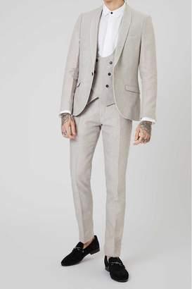 Mens Runner Linen Suit Jacket - Grey