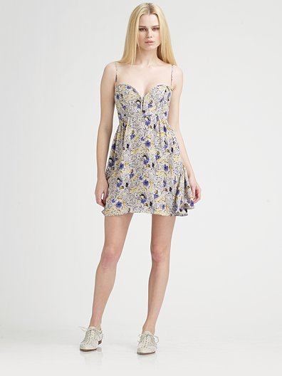Parker Silk Charmeuse Cami Dress