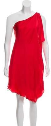 Ralph Lauren Silk One Shoulder Shift Dress