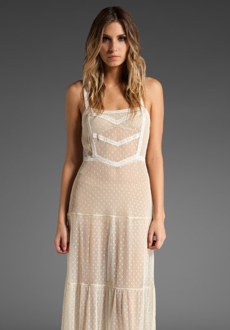 Free People Star Lace D'Esprit Slip Maxi