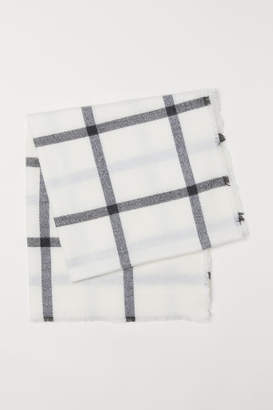 H&M Checked Scarf - White