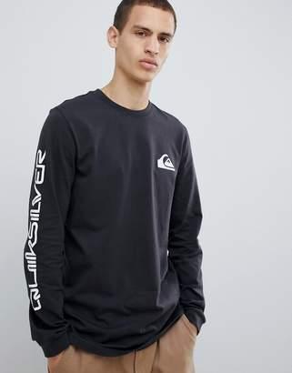 Quiksilver Original Quik Collage Long Sleeve Top in Black