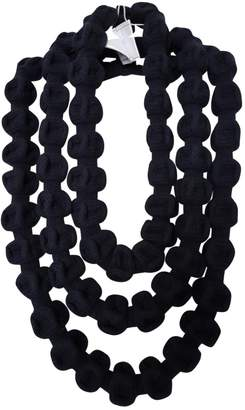 Chanel Blue Cloth Long Necklace