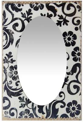 Infinity Instruments French Country Floral Rectangle Wall Mirror - 15.75W x 23.5H in.