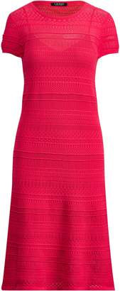 Ralph Lauren Pointelle-Knit Cotton Dress
