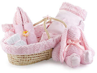 Swankie Blankie Ziggy Plush Gift Basket, Pink