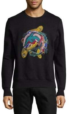 Eleven Paris Multicolor Embroidered Cotton Sweatshirt