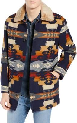 Pendleton Brownsville Wool Jacket with Genuine Shearling Collar