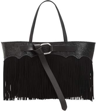 DSQUARED2 Fringed Leather Tote Bag