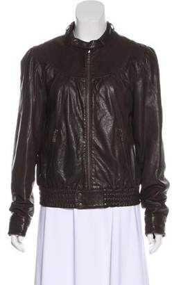 Ted Baker Leather Zip-Up Jacket
