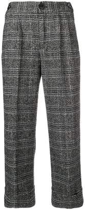 Masscob checked cropped trousers
