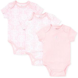 Little Me Baby Girls' 3-Pack Damask Scroll work Bodysuits $11.98 thestylecure.com