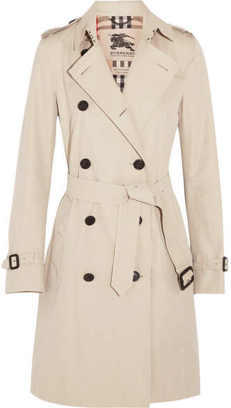 Burberry - The Kensington Long Cotton-gabardine Trench Coat - Beige