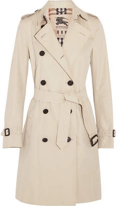 Burberry - The Kensington Long Cotton-gabardine Trench Coat - Beige $1,995 thestylecure.com