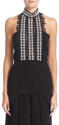 Women's Yigal Azrouel Lace Trim Top $750 thestylecure.com