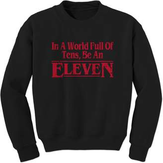 Eleven Paris Expression Tees Crew In A World Full Of Tens, Be An Adult