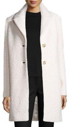 Elie Tahari Jacquard Wool Car Coat, Winter White $285 thestylecure.com